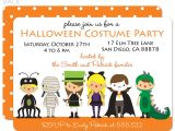 Halloween Birthday Party Custom Invitations Party Invitations Custom Party Invitations Cartoon Ideas