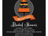 Halloween Bridal Shower Invitations Elegant Halloween Cake Bridal Shower Invitation