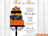 Halloween Bridal Shower Invitations Fall Cake Bridal Shower Invitation Halloween Engagement