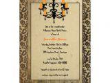 Halloween Bridal Shower Invitations Halloween Damask and Chandelier Bridal Shower 5×7 Paper