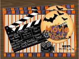 Halloween Movie Party Invitations Halloween Movie Night Invitation Movie Madness