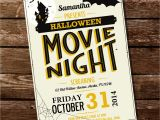 Halloween Movie Party Invitations Halloween Movie Night Party Invitation by Sunshineparties