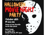 Halloween Movie Party Invitations Halloween Party Invitation Movie Night Mask
