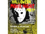 "Halloween Movie Party Invitations Movie Night Halloween Party Invitation Mask 5"" X 7"