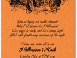 Halloween Party Invite Wording for Adults Grunge Skull On orange Halloween Party Invitations