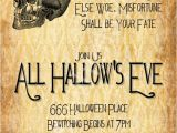Halloween Party Poem Invite All Hallow 39 S Eve Halloween Party Invitation 4×8 5×7 4×6