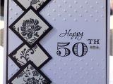 Handmade 50th Birthday Invitations Classy and Elegant 50th Birthday Handmade Card Black