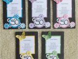 Handmade 50th Birthday Invitations Handmade Birthday Invitations