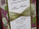 Handmade 50th Birthday Invitations Handmade Floral Birthday Invitations Layout