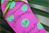 Handmade Pool Party Invitation Ideas Diy Pool Party Luau Flip Flop Birthday Invitation