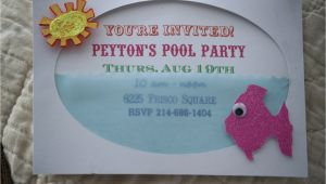 Handmade Pool Party Invitation Ideas Pool Party Invite From Jami at the Blackberry Vine
