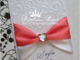 Handmade Quinceanera Invitations Items Similar to Wedding Invitations Quinceanera