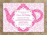 Handmade Tea Party Invitation Ideas Items Similar to Tea Party Invitation Diy Printable Pdf