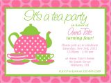 Handmade Tea Party Invitations Custom Printable Tea Party Invitation