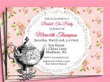 Handmade Tea Party Invitations Handmade Tea Party Invitations Card Design Tea Party
