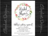 Handwritten Bridal Shower Invitations Floral Wreath Bridal Shower Invitation Also by Ellenphant