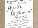 Handwritten Bridal Shower Invitations Modern Script Bridal Shower Invitation Gray White