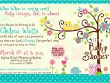 Happi Tree Baby Shower Invitations Happi Tree Owl Baby Shower Invitation for Girl
