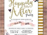 Happily Ever after Bridal Shower Invitations Happily Ever after Invitation Boho Wedding Shower