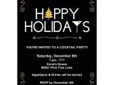 Happy Holidays Party Invitation Happy Holidays Cocktail Party Invitations Paperstyle