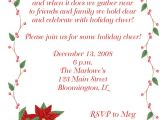 Happy Holidays Party Invitation Happy Holidays Poinsettia Christmas Party Invitations