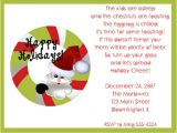 Happy Holidays Party Invitation Happy Holidays Santa Wreath Christmas Party Invitations
