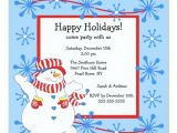 Happy Holidays Party Invitation Snowman Happy Holiday Christmas Party Invitation Zazzle Ca