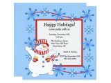 Happy Holidays Party Invitation Snowman Happy Holiday Christmas Party Invitation Zazzle