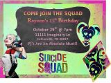 Harley Quinn Birthday Invitations 36 Best Images About Suicide Squad On Pinterest Joker