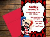 Harley Quinn Birthday Party Invitations Downloadable Dc Superhero Harley Quinn themed Birthday