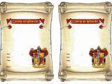 Harry Potter Birthday Invitations Printable Free 9 Best Images Of Harry Potter Invitation Printables Free