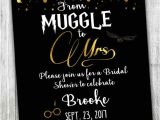 Harry Potter Bridal Shower Invitations Custom Harry Potter Bridal Shower Invitation Muggle to Mrs