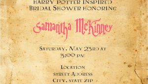 Harry Potter Bridal Shower Invitations Harry Potter Bridal Shower Invitation