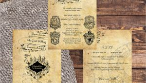 Harry Potter Wedding Invitation Template Harry Potter Wedding Invitation Diy Printable Template