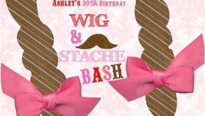 Hat and Wig Party Invitations Party Box Design Wig and Stache Bash Birthday Invites