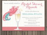 Hat Bridal Shower Invitations Bridal Shower Brunch Invitation Champagne Brunch Fancy