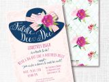 Hat Bridal Shower Invitations Fiddle Dee Dee Big Hat Bridal Shower Invitation southern Belle