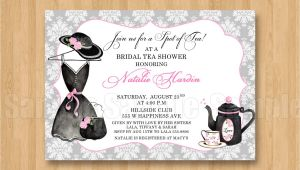 Hat Bridal Shower Invitations Tea Fancy Hat Dress Birthday Bridal Shower Personalized