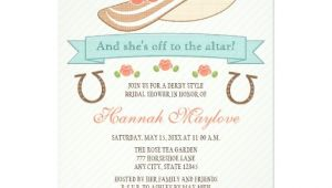 Hat themed Bridal Shower Invitations Kentucky Derby Hat Bridal Shower Invitation
