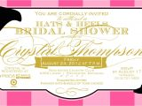 Hat themed Party Invitations Bridal Shower Invitations Bridal Shower Invitations Hat theme
