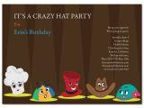 Hat themed Party Invitations Hat Party Invitation Cimvitation