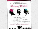 Hat themed Party Invitations Madhatter Mad Hatter Tea Party Invitations Fascinator