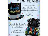 Hat themed Party Invitations Party Hats New Years Eve Party Invitation