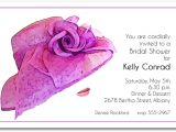 Hat themed Party Invitations Stunning Floral Lavender Hat Party Invitations
