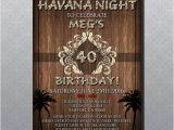 Havana Nights Party Invitation Custom Havana Nights theme Party Invitation 5 39 X7 39