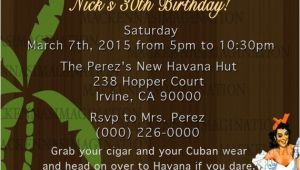 Havana Nights Party Invitation Havana Nights Birthday Invite Digital
