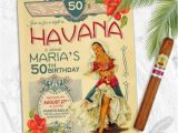 Havana Nights Party Invitation Havana Nights Birthday Party Invitations Vintage