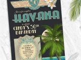 Havana Nights Party Invitation Havana Nights Cuban Birthday Party Invitations Cuba