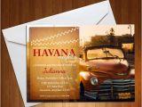 Havana Nights Party Invitation Havana Nights Invite Havana Nights Party Suprise Party