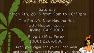 Havana Nights Party Invitation Template Havana Nights Birthday Invite Digital